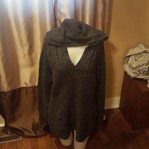 Old Navy Ladies Knitted Hoodie